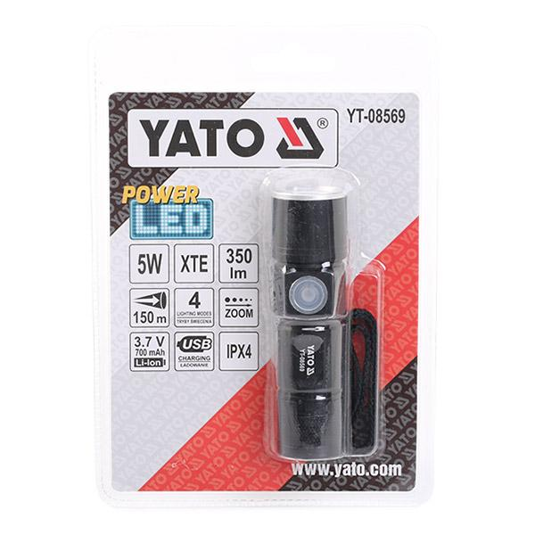 YT-08569 YATO 94mm, Lampenart: LED Leuchtdauer: 3Std., Batterie-Kapazität: 650mAh Werkstattlampe YT-08569 günstig kaufen