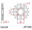 JTSPROCKETS Framdrev JTF151617