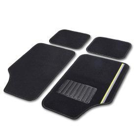 10602 CARTREND fram och bak, svart, Textil, Antal: 4 Set med golvmatta 10602 köp lågt pris