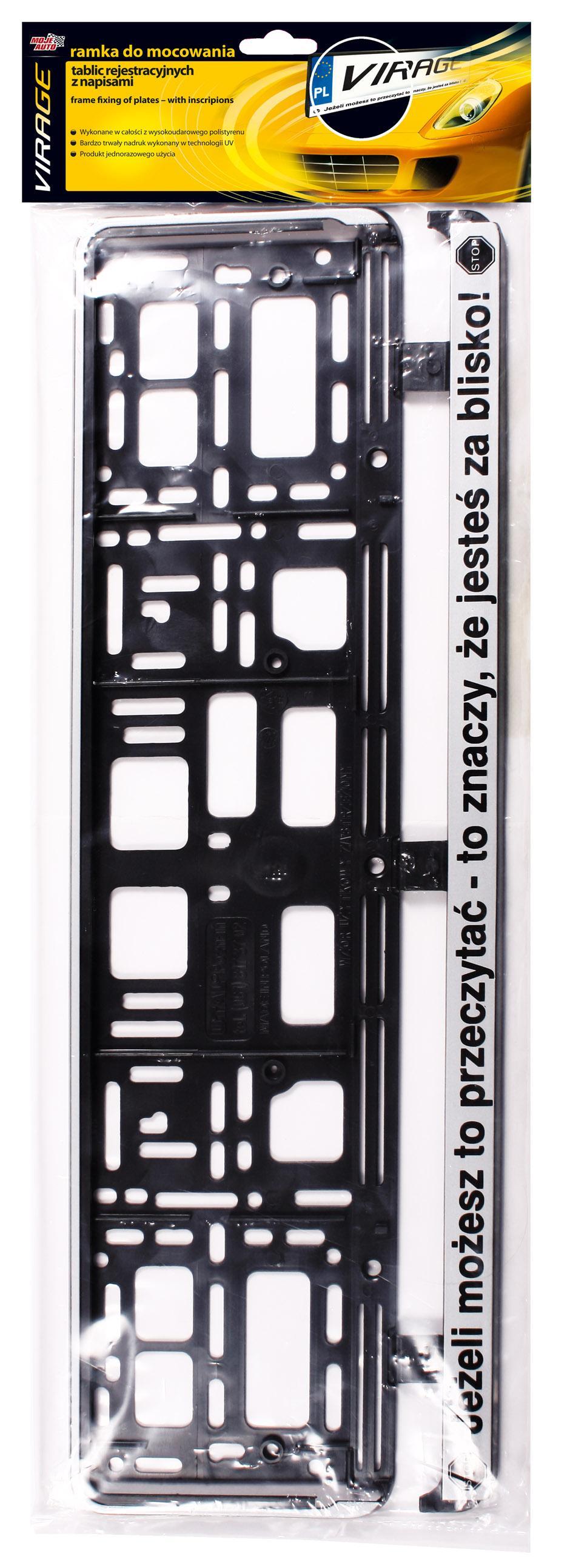 93002 Supporti per targhe auto VIRAGE 93-002 - Prezzo ridotto