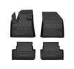 3D407947 Vloermatset Voor en achter, Zwart, Rubber, Aantal: 4 van FROGUM aan lage prijzen – bestel nu!