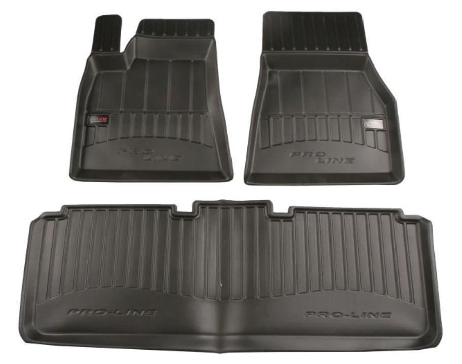 3D408623 Vloermatset Voor en achter, Zwart, Rubber, Aantal: 4 van FROGUM aan lage prijzen – bestel nu!