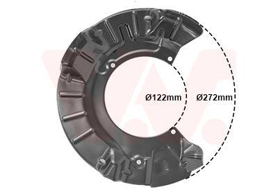 VAN WEZEL: Original Bremsblech 0502371 ()