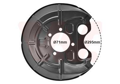 VAN WEZEL: Original Bremsscheiben Schutzblech 3768373 ()