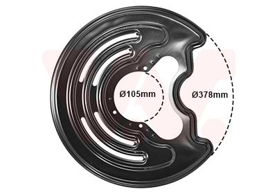 VAN WEZEL: Original Bremsscheiben Schutzblech 3794373 ()