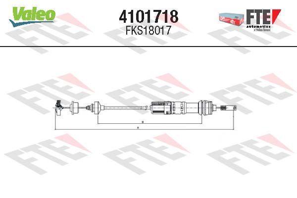 Kupplungsseil FTE 4101718