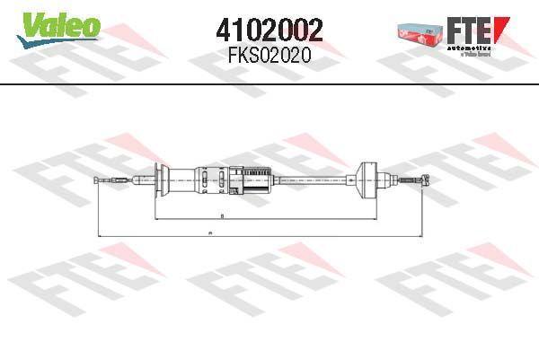 Kupplungszug FTE 4102002