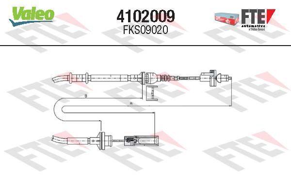 4102009 FTE Länge: 1545/1102mm Seilzug, Kupplungsbetätigung 4102009 günstig kaufen