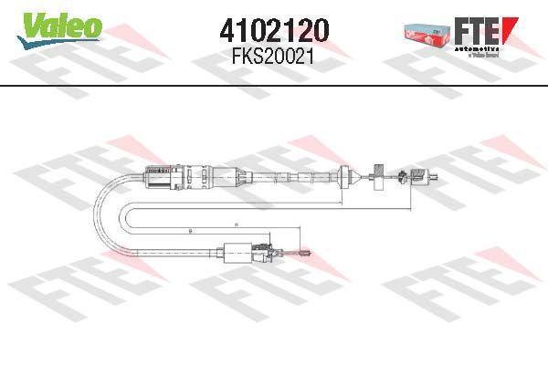 Kupplungsseilzug FTE 4102120