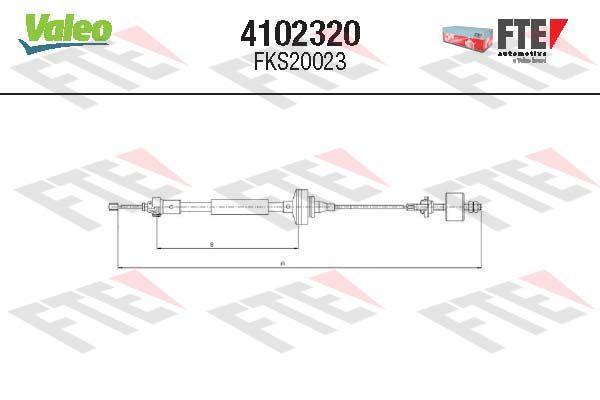 Kupplungsseilzug FTE 4102320