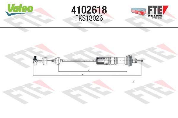 Kupplungsseilzug FTE 4102618