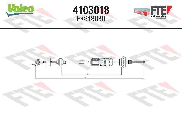 Kupplungszug FTE 4103018