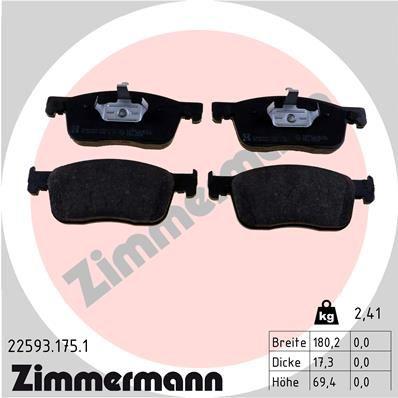 Bremsbelagsatz ZIMMERMANN 22593.175.1