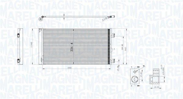 Original RENAULT Kondensator Klimaanlage 350203747000