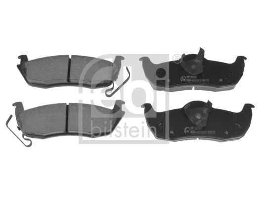 JEEP COMMANDER 2009 Bremsbelagsatz - Original FEBI BILSTEIN 116339 Breite: 49,4, 53,4mm, Dicke/Stärke 1: 17,2mm