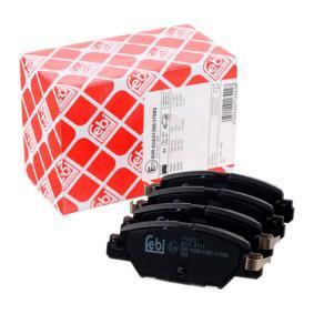 116422 FEBI BILSTEIN Hinterachse, mit akustischer Verschleißwarnung Breite: 42,6mm, Dicke/Stärke 1: 14,4mm Bremsbelagsatz, Scheibenbremse 116422 günstig kaufen