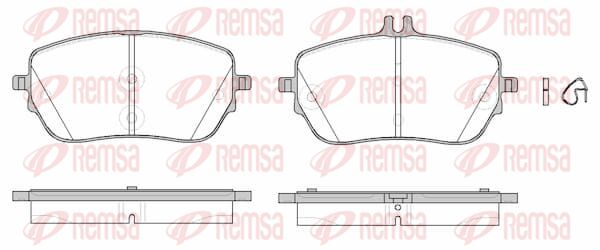 Bremsbeläge Mercedes W177 hinten + vorne 2020 - REMSA 1827.00 (Höhe 1: 62,9mm, Höhe 2: 72,2mm, Dicke/Stärke: 18,8mm)