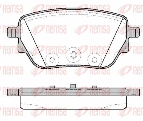 Bremsklötze MERCEDES-BENZ A-Klasse Limousine (W177) hinten + vorne 2019 - REMSA 1838.00 (Höhe: 48,8mm, Dicke/Stärke: 17mm)