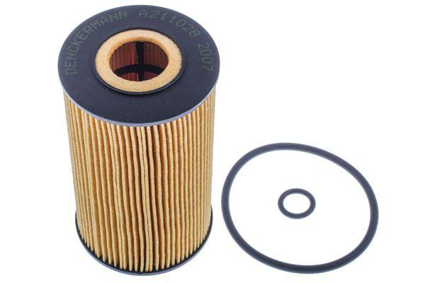 A211028 DENCKERMANN mit Dichtungen, Filtereinsatz Innendurchmesser: 21mm, Innendurchmesser 2: 21mm, Ø: 57mm, Höhe: 106mm Ölfilter A211028 günstig kaufen
