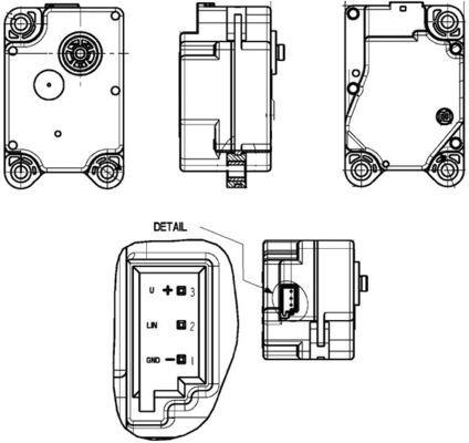 MAHLE ORIGINAL: Original Stellmotor Heizung AA 15 000P ()