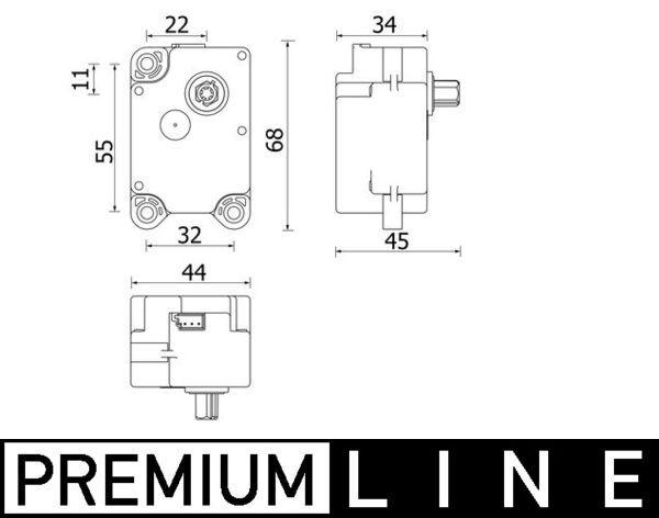 MAHLE ORIGINAL: Original Stellelement, Mischklappe AA 71 000P ()