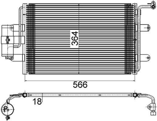 MAHLE ORIGINAL: Original Klimakühler AC 180 000S ()