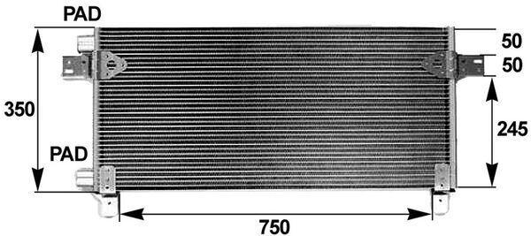MAHLE ORIGINAL Kondensor, klimatanläggning till MAN - artikelnummer: AC 282 000P