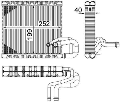 MAHLE ORIGINAL: Original Verdampfer Klimaanlage AE 106 000P ()