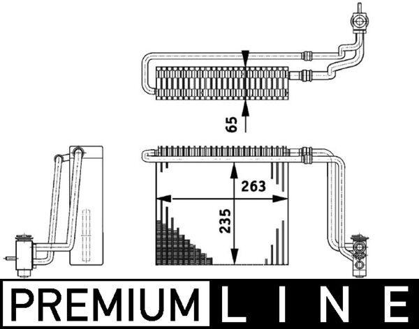 MAHLE ORIGINAL: Original Verdampfer Klimaanlage AE 65 000P ()