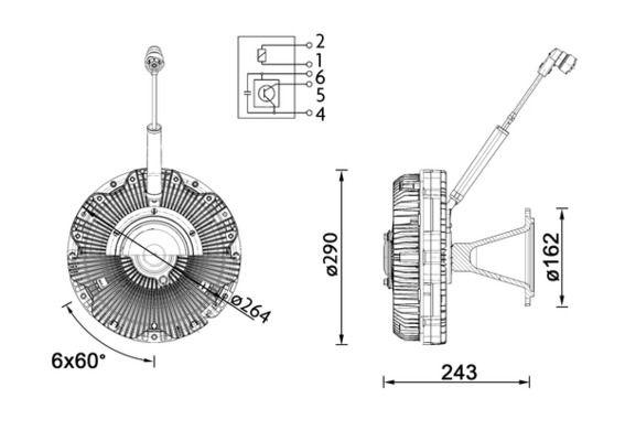 Kup MAHLE ORIGINAL Sprzęgło, wentylator chłodzenia CFC 173 000P ciężarówki