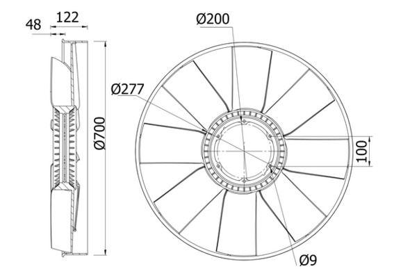 Lüfterrad, Motorkühlung CFW 31 000S Niedrige Preise - Jetzt kaufen!