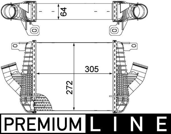 Køb MAHLE ORIGINAL Intercooler CI 237 000P lastbiler