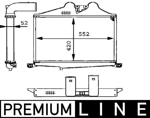 Compre MAHLE ORIGINAL Intercooler CI 89 000P caminhonete