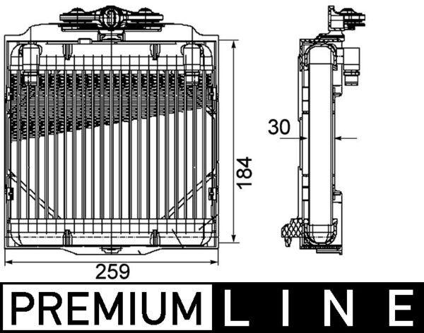 BMW 5er 2013 Getriebe Ölkühler - Original MAHLE ORIGINAL CLC 102 000P