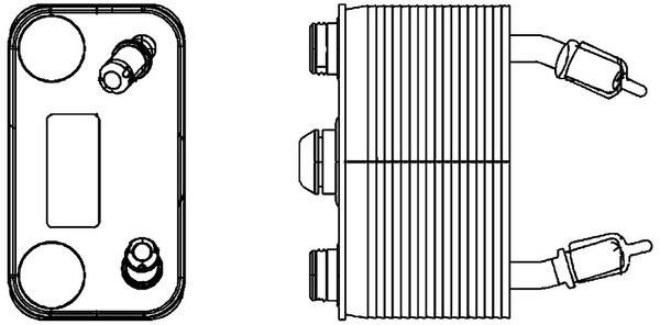 Original BMW Automatikgetriebe Ölkühler CLC 166 000P