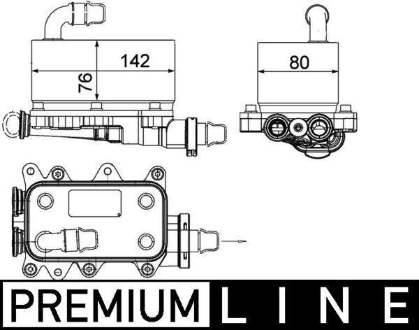 Getriebe Ölkühler MAHLE ORIGINAL CLC 18 000P