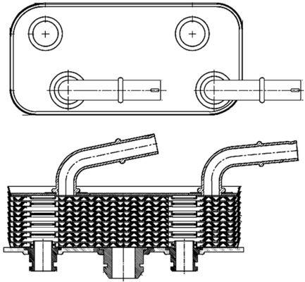 BMW E9 Getriebe Ölkühler - Original MAHLE ORIGINAL CLC 180 000S