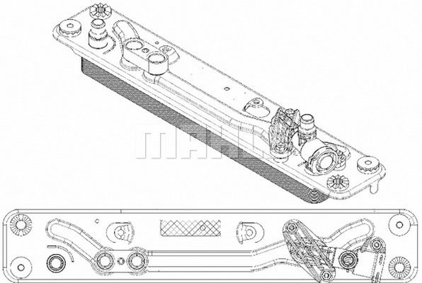 Getriebe Ölkühler MAHLE ORIGINAL CLC 182 000P