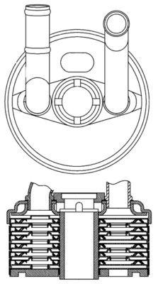 Getriebeölkühler Polo 9n 2009 - MAHLE ORIGINAL CLC 184 000S ()