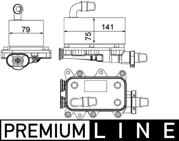 Getriebe Ölkühler MAHLE ORIGINAL CLC 19 000P