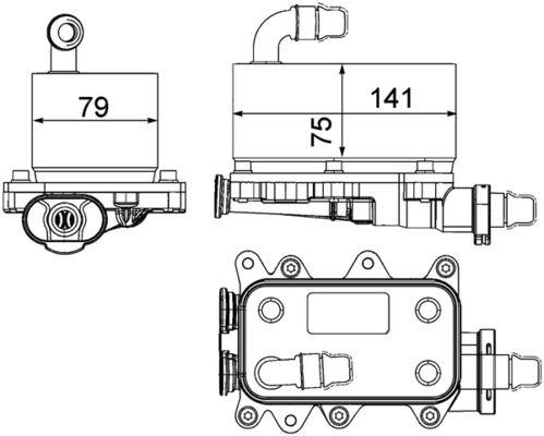 MAHLE ORIGINAL | Ölkühler, Automatikgetriebe CLC 19 000P