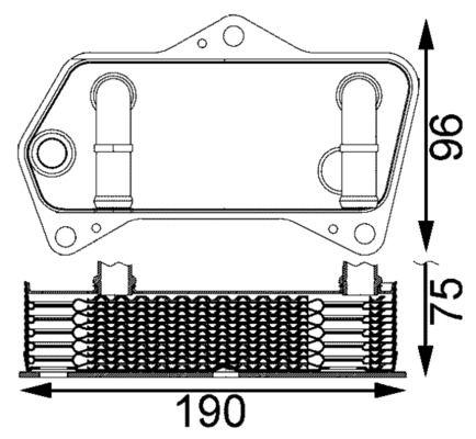 AUDI V8 Getriebeölkühler - Original MAHLE ORIGINAL CLC 202 000S