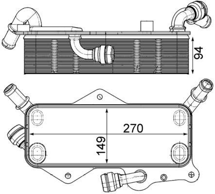 AUDI V8 Getriebe Ölkühler - Original MAHLE ORIGINAL CLC 218 000P