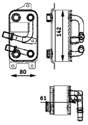 BMW E9 Getriebe Ölkühler - Original MAHLE ORIGINAL CLC 43 000P