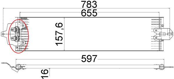 MAHLE ORIGINAL | Ölkühler, Automatikgetriebe CLC 49 000P