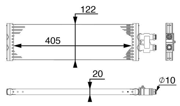 MAHLE ORIGINAL   Ölkühler, Automatikgetriebe CLC 64 000P