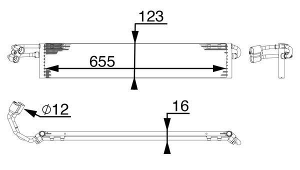 Getriebe Ölkühler MAHLE ORIGINAL CLC 71 000P