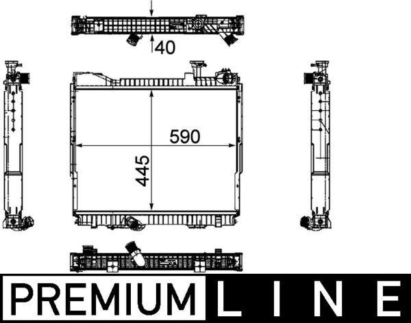 Kup MAHLE ORIGINAL Chłodnica, układ chłodzenia silnika CR 1171 000P ciężarówki