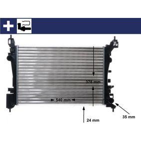 CR1182000P MAHLE ORIGINAL mit Zubehör, mit Spannelement, mit Verschlussstopfen, Kühlrippen mechanisch gefügt Kühler, Motorkühlung CR 1182 000S günstig kaufen