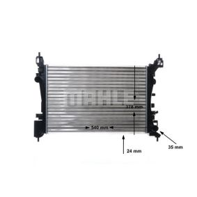 Kühler, Motorkühlung CR 1182 000S von MAHLE ORIGINAL